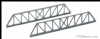 Peco NB-38 Truss Girder Bridge Sides, 143mm (5in) long